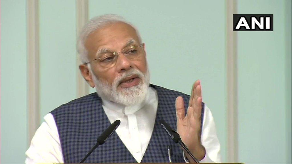 Prime Minister Narendra Modi during the release of All India Tiger Estimate 2018