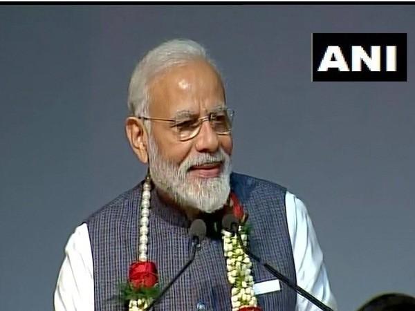 Prime Minister Narendra Modi at Delhi's ISKCON temple