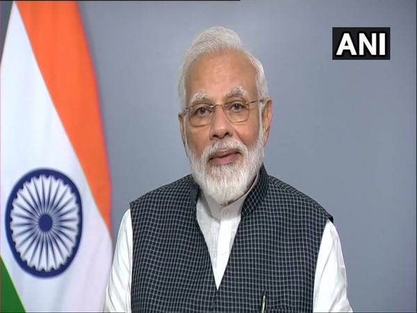 Prime Minister Narendra Modi during his address to the nation on Thursday. Photo/ANI