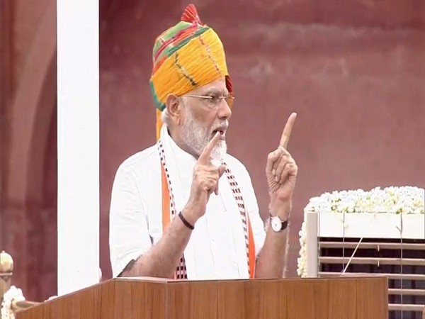 Prime Minister Narendra Modi addressing from the ramparts of Red Fort on Thursday.
