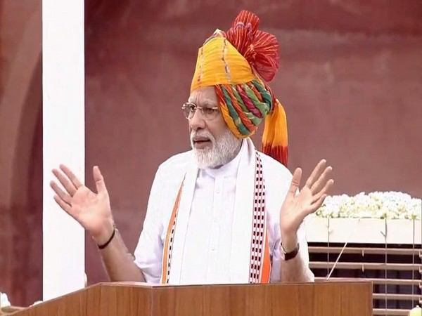 Prime Minister Narendra Modi delivering Independence Day speech from Red Fort on Thursday