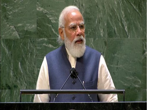 PM Modi addressing the 76th session of the United Nations General Assembly on Saturday.