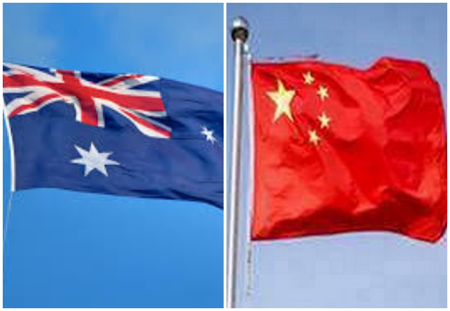 Flags of Australia and China