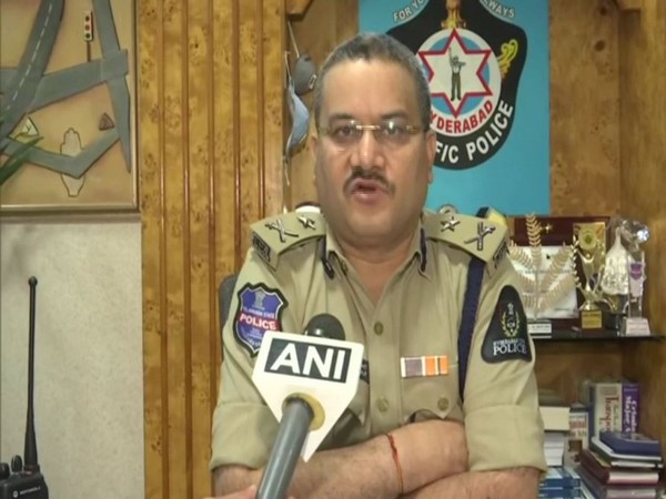 Anil Kumar, IPS, Additional Commissioner of Police, Traffic, Hyderabad speaking to ANI. (Photo/ANI)