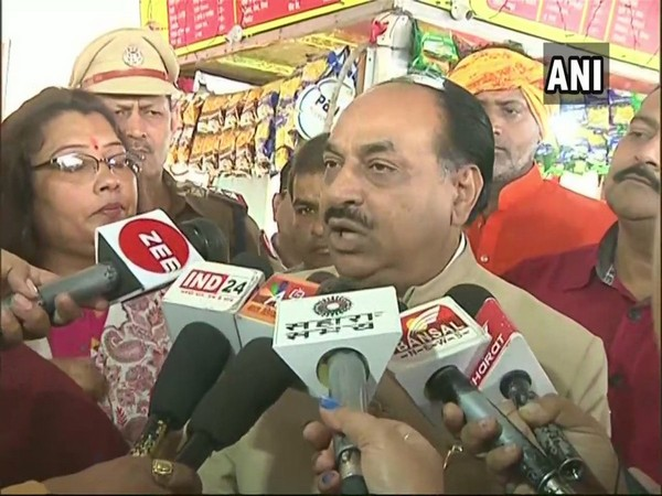 Railways Board PSC Chairman RC Ratn speaking to media at Bhopal railway station on Wednesday.