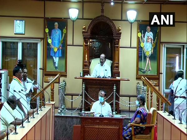 President of India accepts resignation of Puducherry Chief Minister V Narayanasamy. (Photo/ANI)