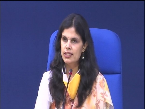 Punya Salila Srivastava, Joint Secretary, Ministry of Home Affairs, speaking at a press briefing in New Delhi on Thursday.   Photo/ANI