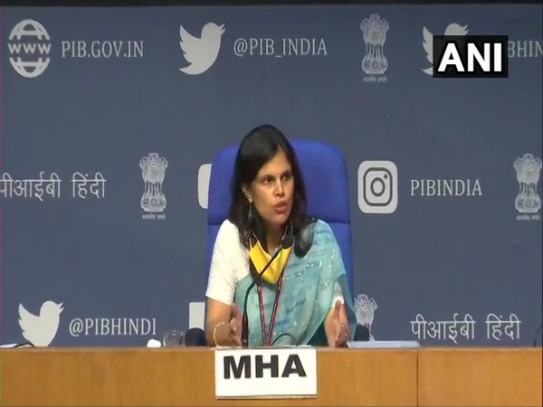 Punya Salila Srivastava, Joint Secretary, Union Home Ministry addressing a press conference in New Delhi on Thursday. (Photo/ANI)