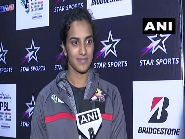 Shuttler PV Sindhu speaking to ANI in Lucknow on Sunday