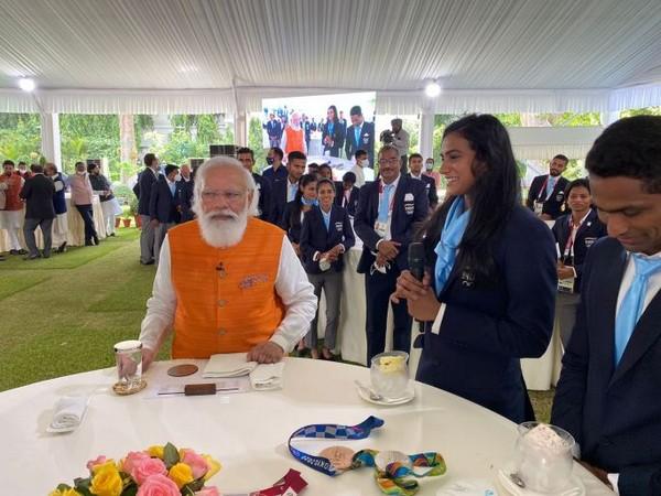 PV Sindhu with PM Narendra Modi.