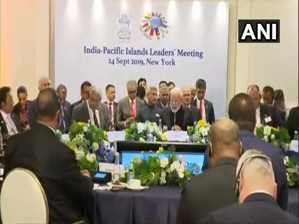 Prime Minister Narendra Modi addressing the India-Pacific Islands Leaders' Meeting in New York