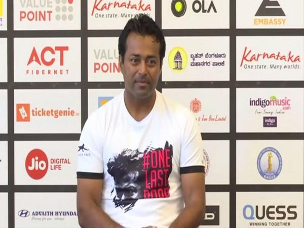 Indian tennis veteran Leander Paes