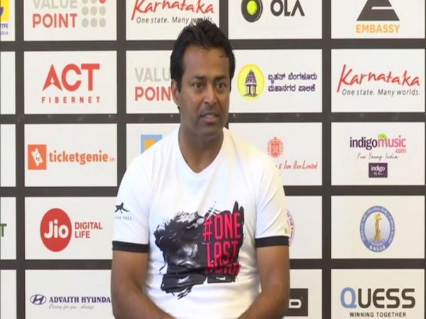 Indian veteran tennis player Leander Paes