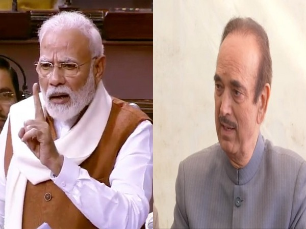 Prime Minister Narendra Modi and Congress leader Ghulam Nabi Azad (File photo)