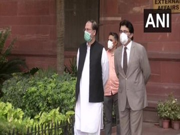 Syed Haider Shah, Pakistan's Charge d'affaires to India leaves from Ministry of External Affairs. (File Photo)
