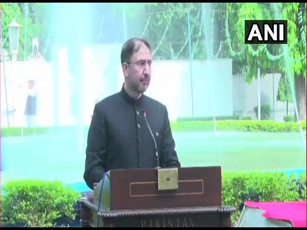 Acting High Commissioner of Pakistan to India, Syed Haider Shah addressing an event on the occasion of Independence Day