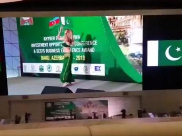 A belly dancer at an investment summit organised by Pakistan in Baku, Azerbaijan. (Photo Grab: Gul Bukhari's Twitter)