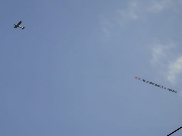 A plane with an anti-Pakistan slogan spotted flying over Headingley cricket ground in Leeds on June 29