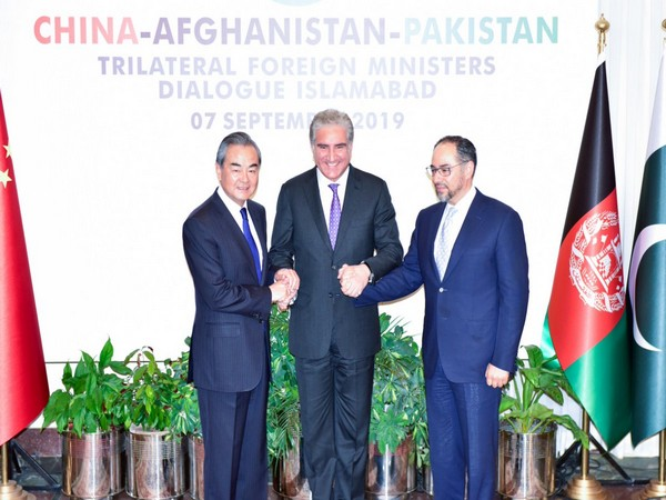 The Foreign Ministers of China, Pakistan and Afghanistan at the trilateral dialogue in Islamabad on Saturday (Photo Credits: Mohammad Faisal Twitter)