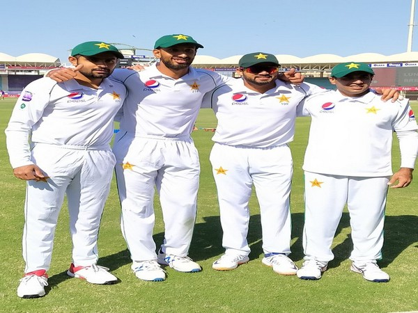 Pakistan's century scorers after their inning. (Photo/Pakistan Cricket Twitter)