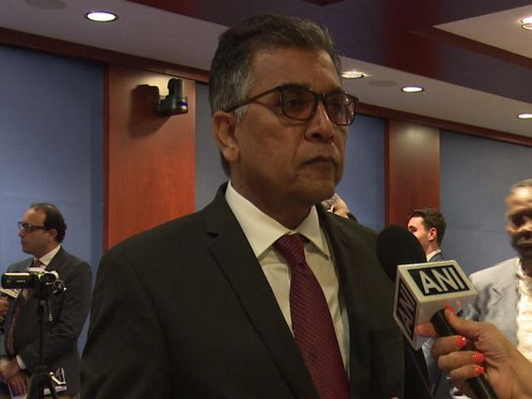 South Asia Minorities Alliance foundation chairman Nadeem Nusrat speaking to ANI