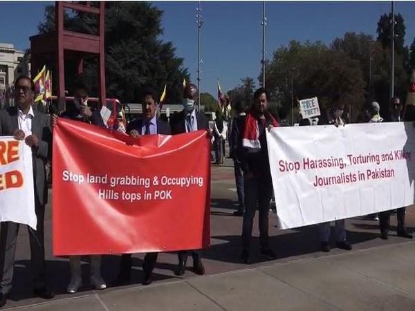 Geneva: PoK activists demand Pakistan to dismantle terror camps in occupied region