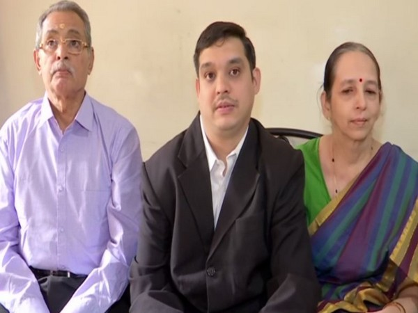In the center: 31-year-old Nikhil Prasad Baji who recently clear judicial services examination, talking to ANI here on Monday.