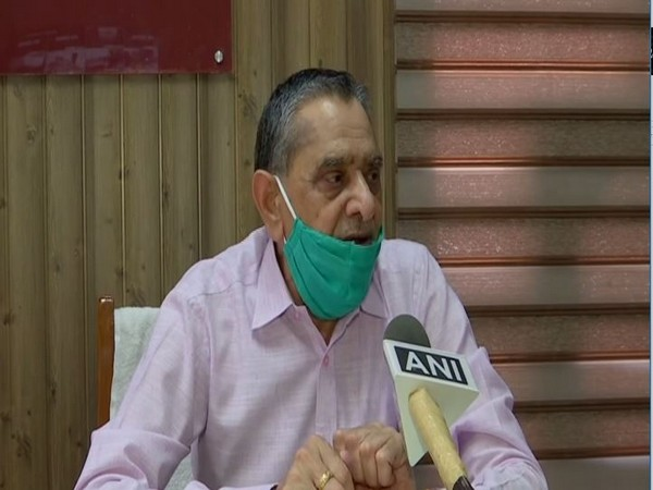 CEO MS Yadav of Mata Mansa Devi shrine while speaking to ANI on Thursday. (Photo/ANI)
