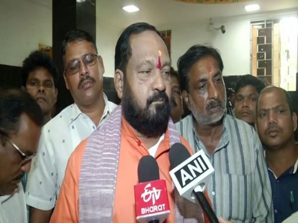 BJP MP Basanta Kumar Panda speaking to ANI in Bhubaneswar on Sunday. Photo/ANI