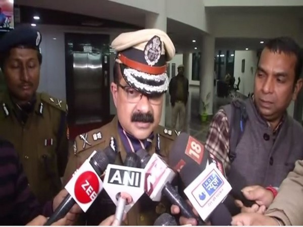 Lucknow Police Commissioner Sujit Pandey speaking to reporters in Lucknow on Tuesday. Photo/ANI