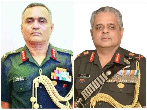 Lt Gen Manoj Pande and Lt Gen Raj Shukla (File photo)
