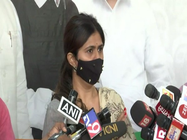 BJP leader Pankaja Munde speaking to reporters in Mumbai on Friday [Photo/ANI]
