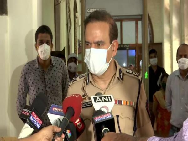 Mumbai Police Commissioner Parambir Singh speaking to reporters on Wednesday. [Photo/ANI]