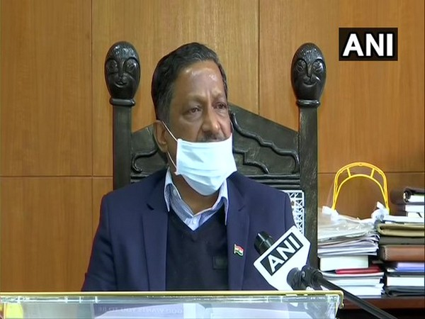 Manoj Parida, Advisor, Chandigarh Administration speaking to ANI on Wednesday. (Photo/ANI)