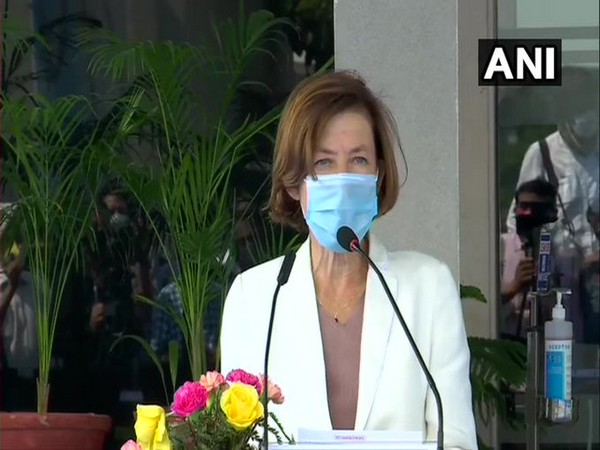 French Defence Minister Florence Parly during the joint press briefing in Ambala on Thursday.