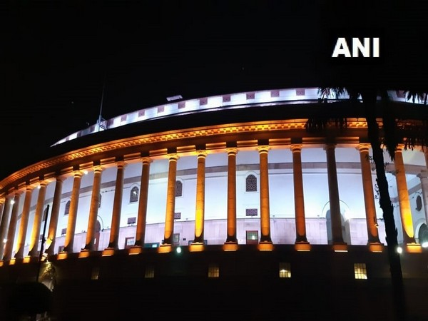 The Parliament Building on Monday. Photo/ANI