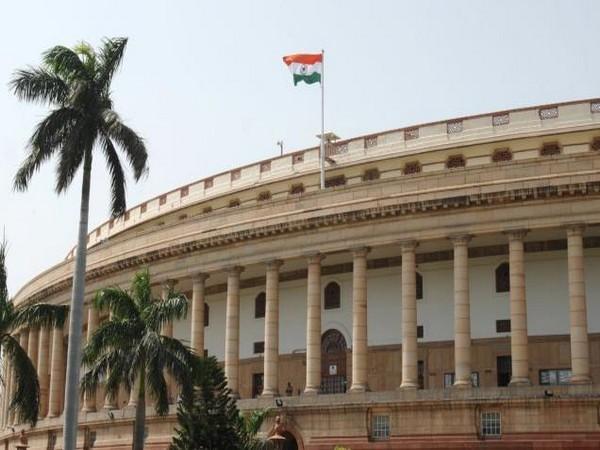 Parliament of India building in New Delhi