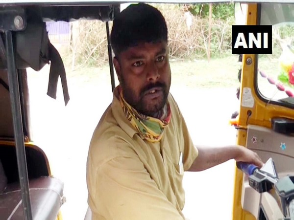 Mohandas, a 'Parotta Master' in China has started working as Auto driver in Puliyur area, Ramanathapuram district. (Photo/ANI)