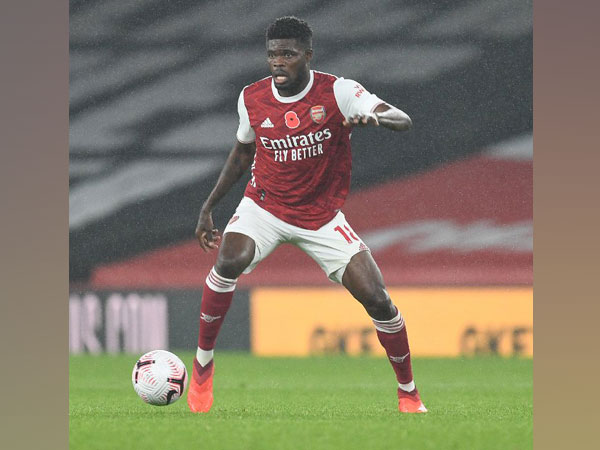 Arsenal midfielder Thomas Partey (Photo/ Arsenal Twitter)