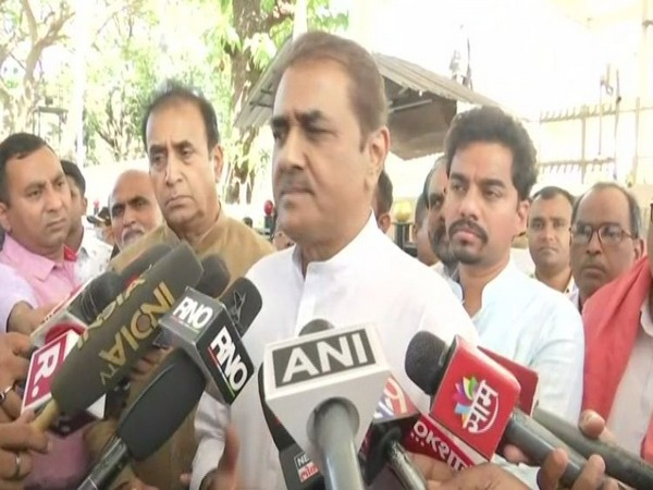 Nationalist Congress Party (NCP) leader Praful Patel speaking to reporters on Wednesday. Photo/ANI