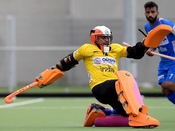 India hockey goalkeeper Krishan Pathak (Photo/ Hockey India)
