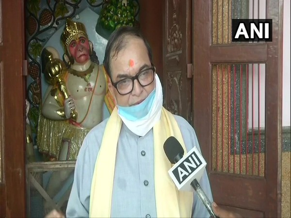 Acharya Kishore Kunal, Trustee of Patna's Mahavir Mandir Trust speaking to ANI on Tuesday. (Photo/ANI)