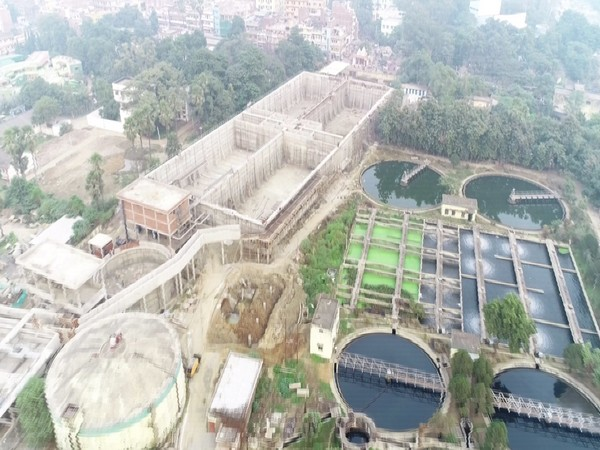 The view of the new Sewage Treatment Plant being constructed in Patna