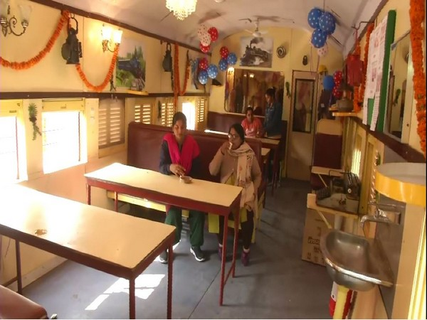 Cafeteria opened in the train coach in Patna Photo/ANI