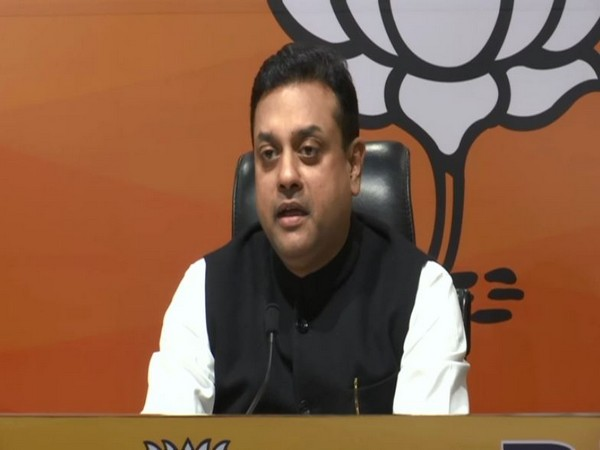 BJP Spokesperson Sambit Patra addressing a press conference in New Delhi on Sunday. (Photo/ANI)