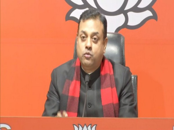 BJP leader Sambit Patra speaking to reporters at a press conference in New Delhi on Sunday. Photo/ANI