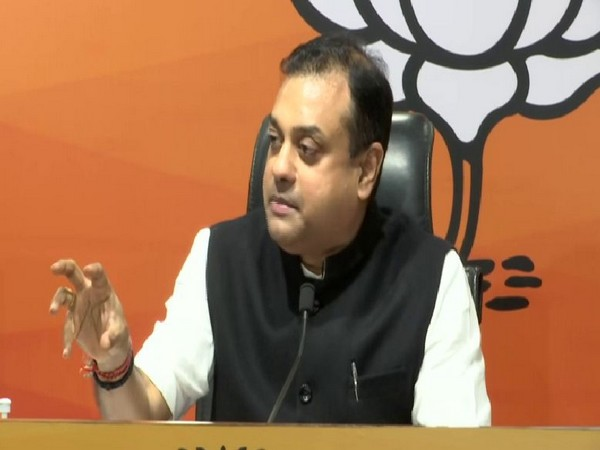 BJP Spokesperson Sambit Patra speaking to media persons at a press conference in New Delhi on Monday. [Photo/ANI]