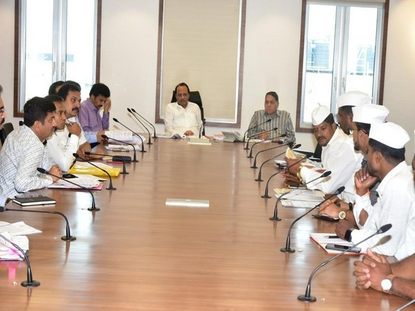 Visuals from the meeting chaired by Deputy CM Ajit 'Dada' Pawar. Photo/ANI