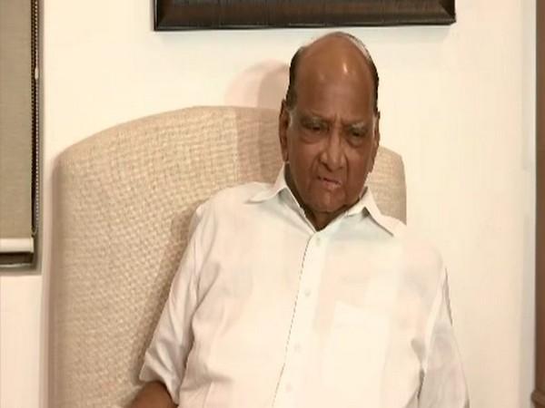 NCP President Sharad Pawar speaking to ANI in Mumbai on Wednesday, Photo/ANI