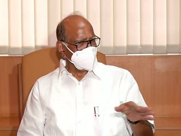 Nationalist Congress Party (NCP) chief Sharad Pawar speaking during press conference on Friday. Photo/ANI